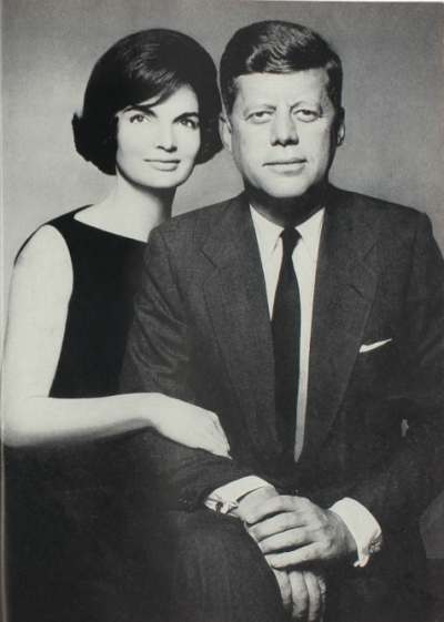 "Due to Diana Vreeland's close relationship with Jackie Kennedy, Harper's Bazaar published the first picture of the presidential couple in 1961. Jackie Kennedy wrote to DV:""Dear Diana, Everyone is wondering why we chose Harper's Bazaar and they invent a million reasons. And no one says the real one, which is you"".  Photographs by Richard Avedon, 1961- Diana Vreeland: The Eye Has To Travel pg 117http://dianavreeland.com/page/posts/op/read/id/129"