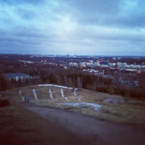 Heart attack on the top of Malminkartano Hill. (hill training)