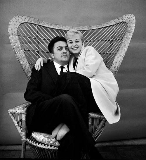 Federico Fellini and Giulietta Masina