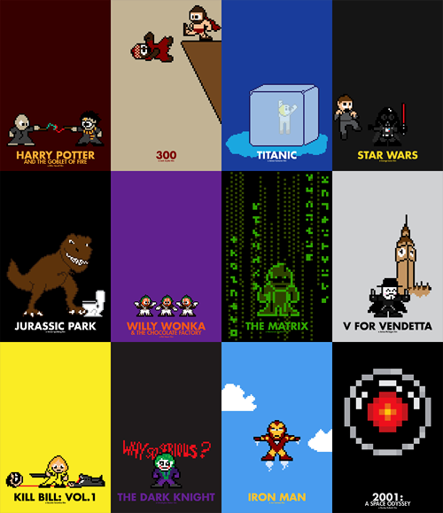 #WreckItRalph: the 8-Bit Invasion is coming! (8-bit inspired movie posters by Eric Palmer)
