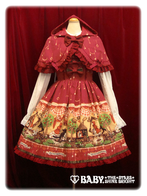 lolitahime:  BABY'S My Little Red Riding Hood Polka Dot Ribbon JSK + Cape in Red