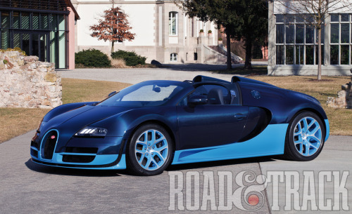 See the first running video of the new 1200 bhp 2013 Bugatti Veyron 16.4 Grand Sport Vitesse. (Source: Road & Track)