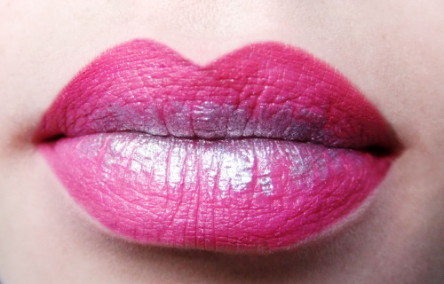Pink silver lips using Make Up For Ever