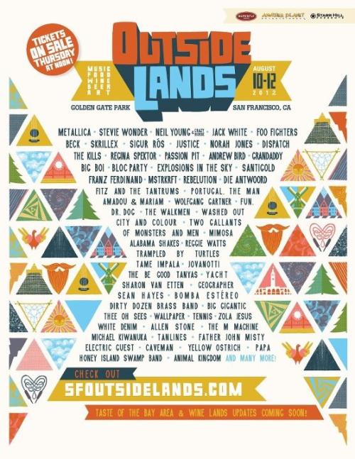 Outside Lands 2012 lineup is available now!