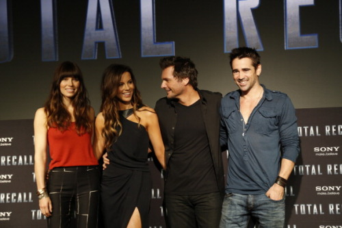 The cast of Total Recall at Summer of Sony 4 - Spring Edition in Cancun, Mexico. April 17, 2012.