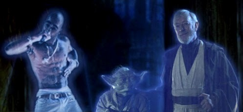 "YES! #lovestarwarsreferences  kqedscience:  ""Yo Hologram Tupac, I'm real happy for you and I'mmma let you finish but Obi-Wan Kenobi was one of the best holograms of all time!"" (via @kanye)"