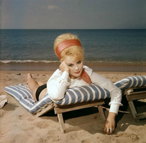Elke Sommer at the beach, Cannes 1962Bob van Dam