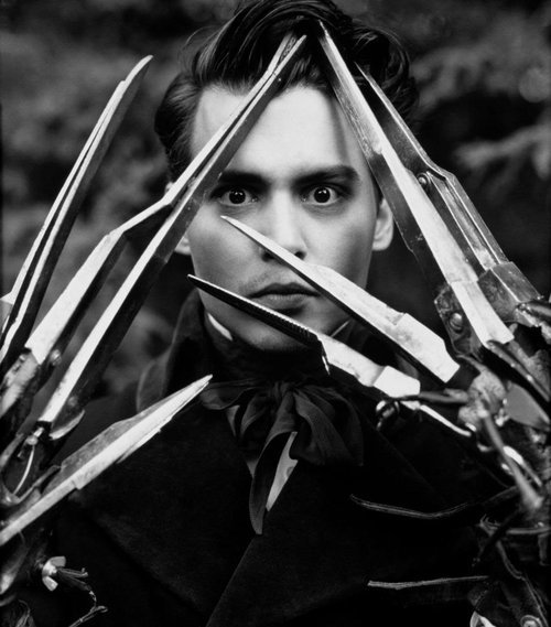 stuffbyberry:  Johnny Scissorhands.