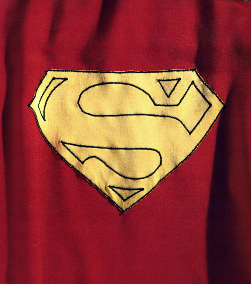 Christopher Reeves' cape from Superman: The Motion Picture :: scanned from Superman: The Complete History :: Chronicle Books :: 1998