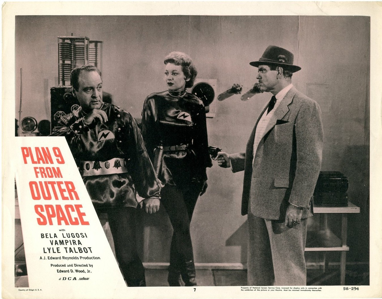 lobbycards:  Plan 9 from Outer Space, US lobby card. 1958