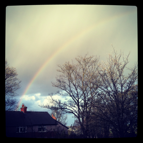 Caught this lovely rainbow earlier :)