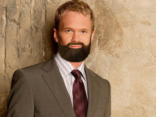 Neil Patrick Harris with Zach Galifianakis' beard.