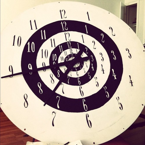 Today's project: finish the clock! (Taken with instagram)