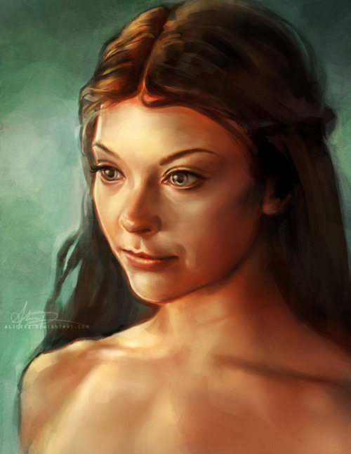 Some roses have steel thorns… Something I felt like painting! Margaery Tyrell is actually flawless. Prints available at my shop.