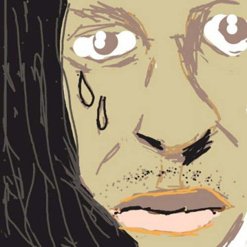 Lil Wayne (that's his dreads) #drawsomething (Taken with instagram)