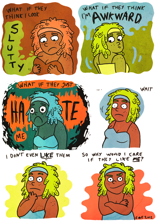 superqueerartsyblog:  did a comic to procrastinate. tired now (on dA)
