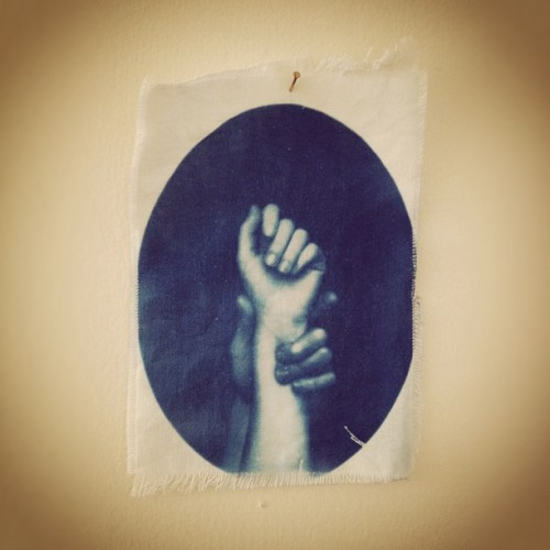 laurenlyon:  Taken with instagram  :Another beautiful cyanotype form Lauren! GO check out her other artwork! Thanks for the submission Lauren.: