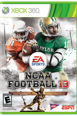 lions20spurs50:  My favorite athlete of all time makes the cover of NCAA Football '13 next to RGIII