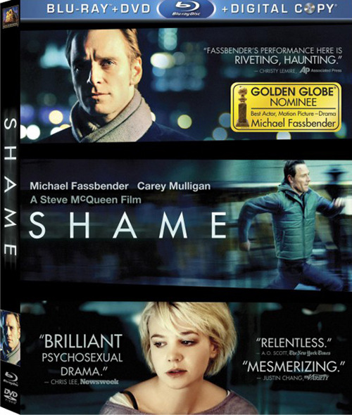 "Steve McQueen's SHAME is out now on Blu-ray, DVD and iTunes. Haha, what do you mean, ""screengrabs""? *shuffles silently out of room*"
