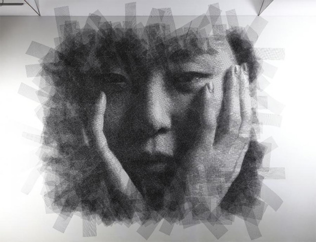 rustybreak:  Seung Mo ParkPortraits that are cut from layers of wire mesh. So creative!