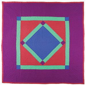 oldlawrence:  Center Diamond Quilt, circa 1920-1940, maker unknown. Lancaster County, PA.