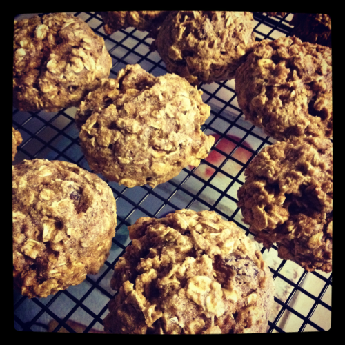 Made some E2 oatmeal raisin cookies today. Fat free 3 WW pts per cookie.