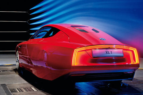 2011 | Volkswagen XL1 in Wind Tunnel | Drag Coefficient - 0,19 source