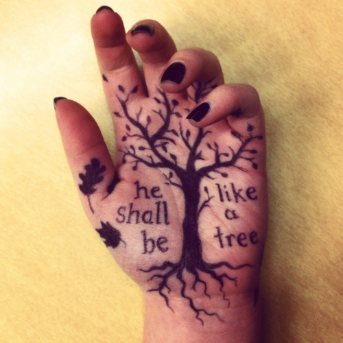 Hand doodles: Psalm 1 edition