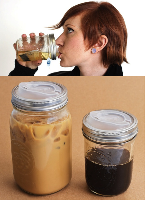 szymon:  Cuppow  - turn a canning jar into a travel mug