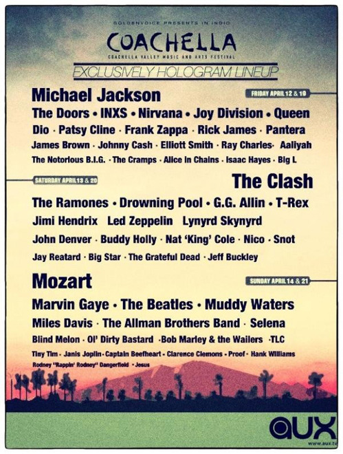 tastefullyoffensive:  2013 Coachella Line-Up[via]