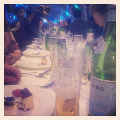 the Tower Bridge Peroni dinner (Taken with instagram)