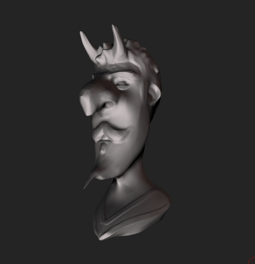 Devil This came out crap. blah. 5 min zbrush sculpt -Hawk