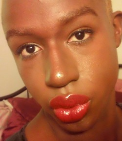 My look from the Allure Video, I am a huge fan of the Dare You Lipstick from MAC, but I opted for the LadyBug shade today. What do you guys think?