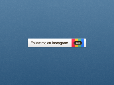 Dribbble/button - Instagram button