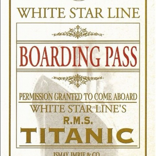 Ticket for the Titanic (Taken with instagram)