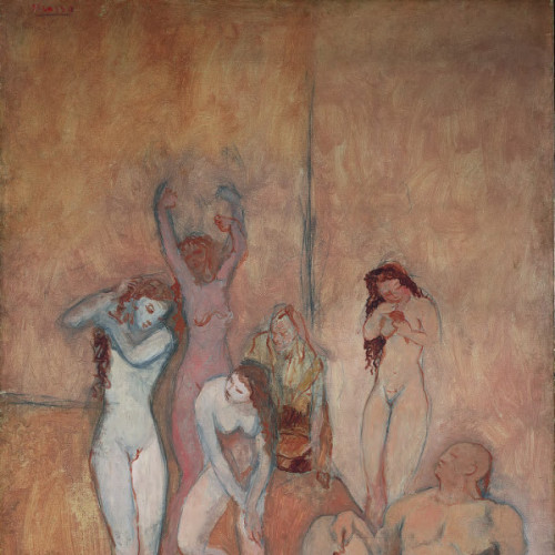 toomuchart:  Pablo Picasso, The Harem, 1906.