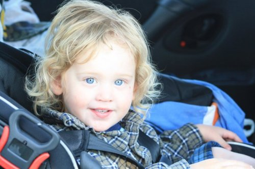 This is my little brother, with the bluest eyes blondest hair, too cute (: <3