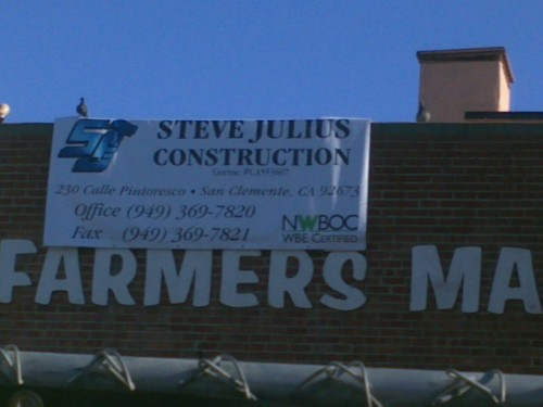 CALL STEVE JULIUS CONSTRUCTION AND TELL THEM NOT TO PARTICIPATE IN THE DESTRUCTION OF THE HISTORIC FARMERS MARKET BUILDING FOR WALMART! Also, they're not even local!!