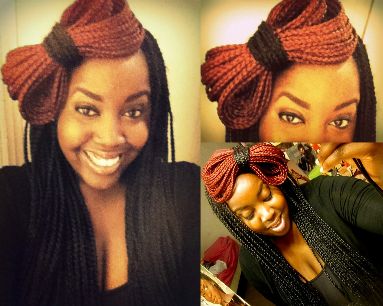 fuckyeahhardfemme:  cupcakesfordiamonds:  my braid bow.  - by onyinyechi.  !!    so cool!!