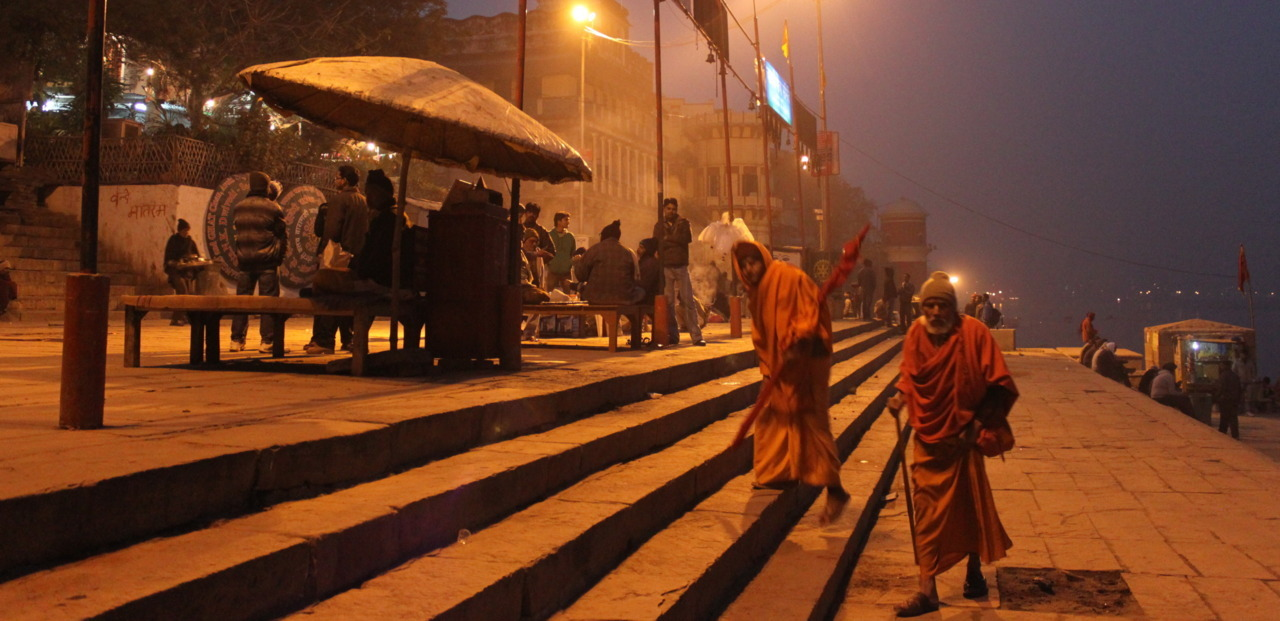 on the bank of the ganges - varanasi, india