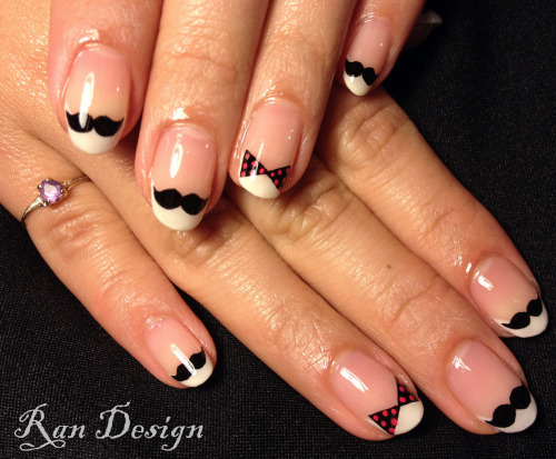 nailsbyran:  French nail 'staches.  :O  !
