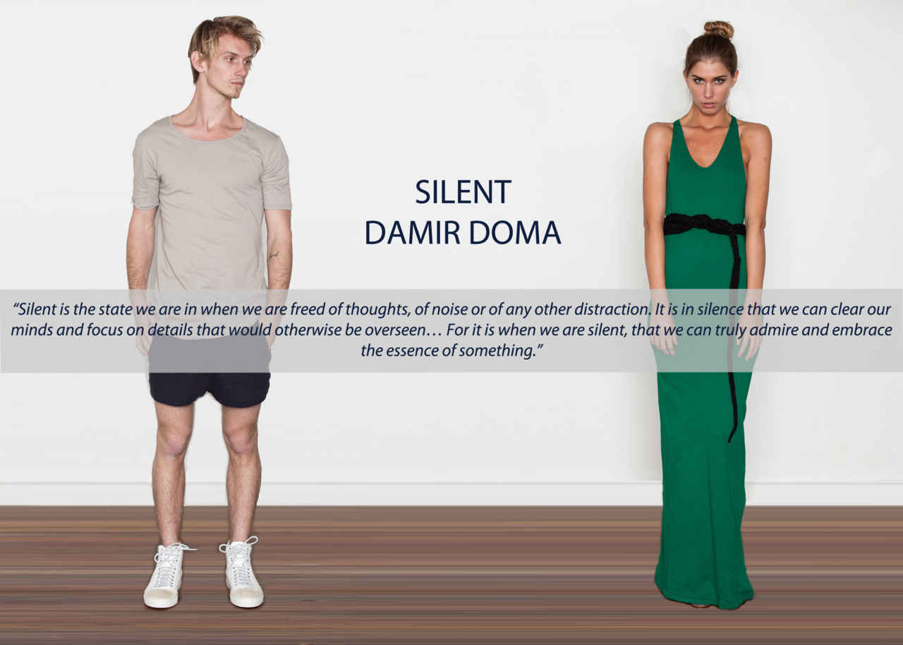 New Silent Damir Doma collection for the boys and girls.