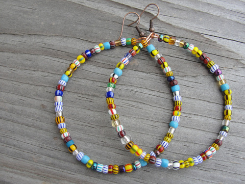 African Seed Bead Hoops on Flickr.Large Hoops