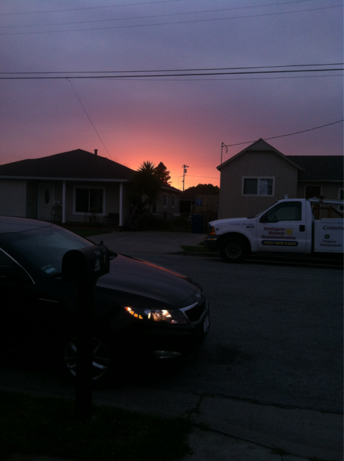 The sunset (n my sexy car) yesterday night. - no editing or nada……