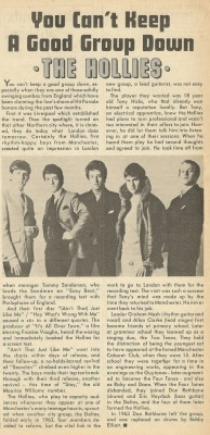 alexarockpop:  The Hollies - Song Hits (American magazine)  May 4th 1966