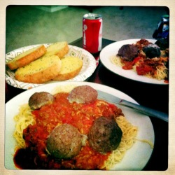 I made dinner for Jenn tonight. Spaghetti and meatballs! Very good! John S Lens, Ina's 1969 Film, No Flash, Taken with Hipstamatic