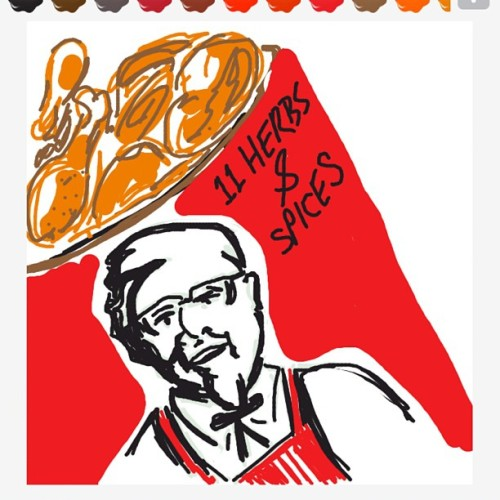 #DrawSomething #KFC #FastFood #FoodPorn? #hah #Draw #Sketch #iPad #Art? #Scribble   (Taken with instagram)