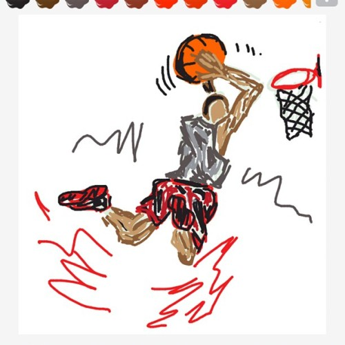 #DrawSomething #Slam #Dunk #Basketball #NBA #NCAA #Sports #Draw #Sketch #iPad #Art? #Scribble   (Taken with instagram)