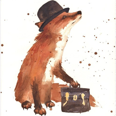 1000drawings:  Charlie Chocolate Box Fox
