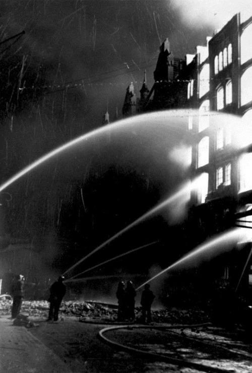 a-n-t-i-d-0-t-e:  Aftermath of a British air raid on Hamburg, 1943. Bundes Archiv
